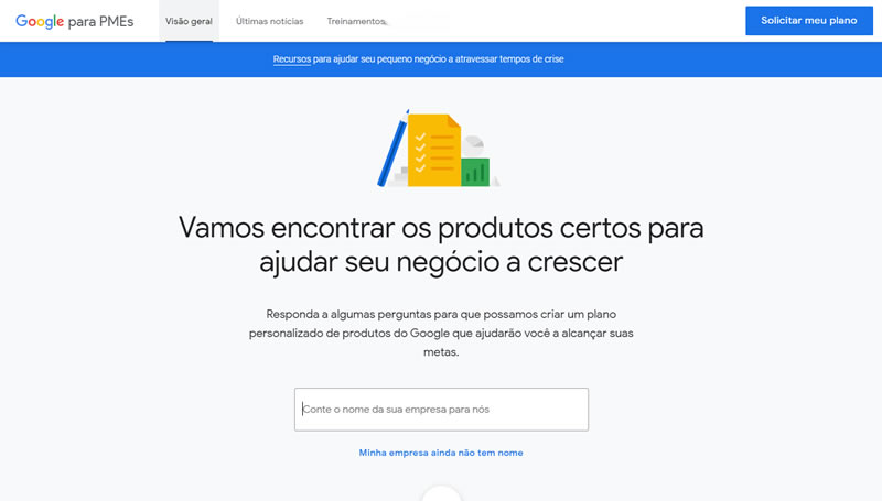 Ferramenta do Google para pequenos negócios